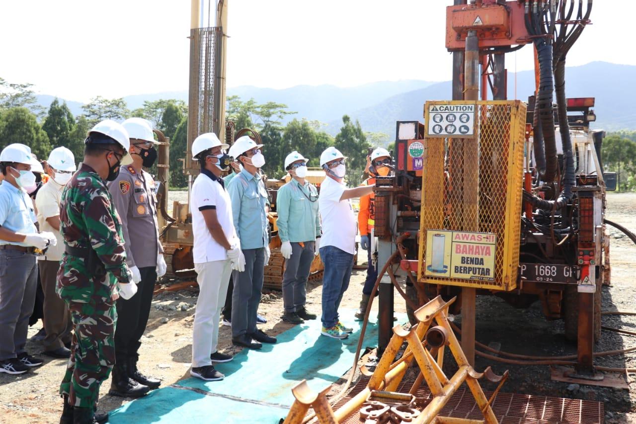 Penataan BBG Dimulai, Bupati Tekan Tombol Drilling
