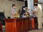 Di Paripurna, DPRD Lutim Sampaikan Pendapat Terhadap 4 Buah Ranperda