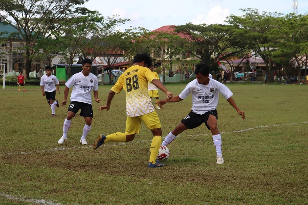 Sepakbola Praporprov Lutim Taklukkan Tuan Rumah Torut