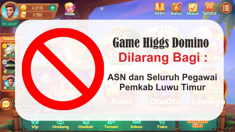 Larangan Game Higgs Domino Juga Berlaku Bagi Guru