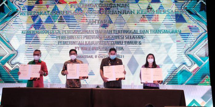 Vale Indonesia Teken MoU & PKB Program PPM- PKPM