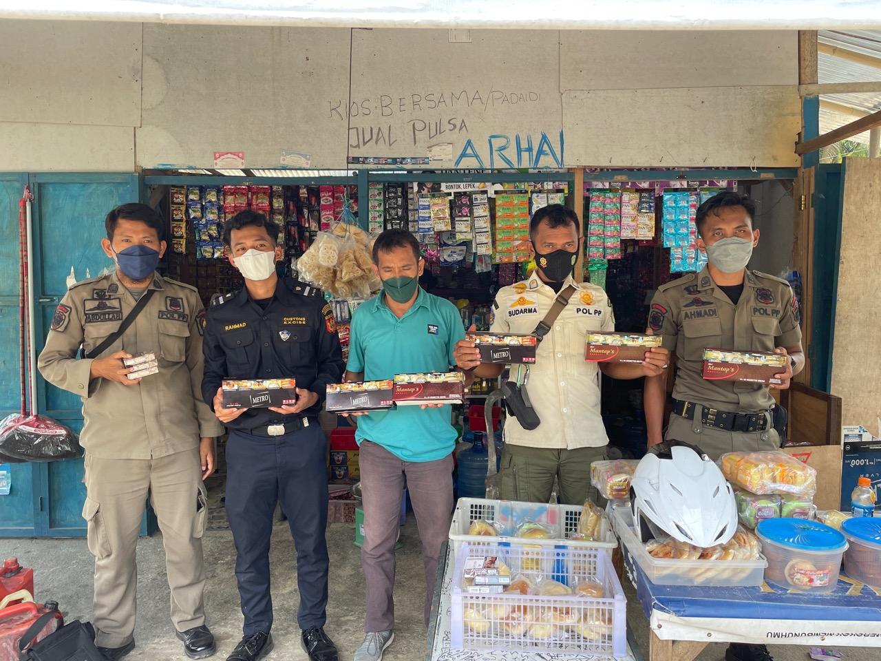 Satpol PP dan Bea Cukai Sita 35 Ribu Batang Rokok Ilegal