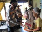 Polres Luwu Timur Bantu Warga Miskin di Desa Kawata